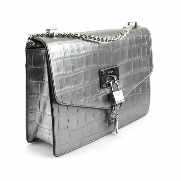 DKNY Handbags - New DKNY Elissa Croc Flap Shoulder Bag